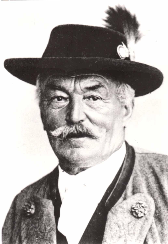 Georg Acher Kapellmeister der Musikkapelle Bayrischzell von 1875 bis 1903