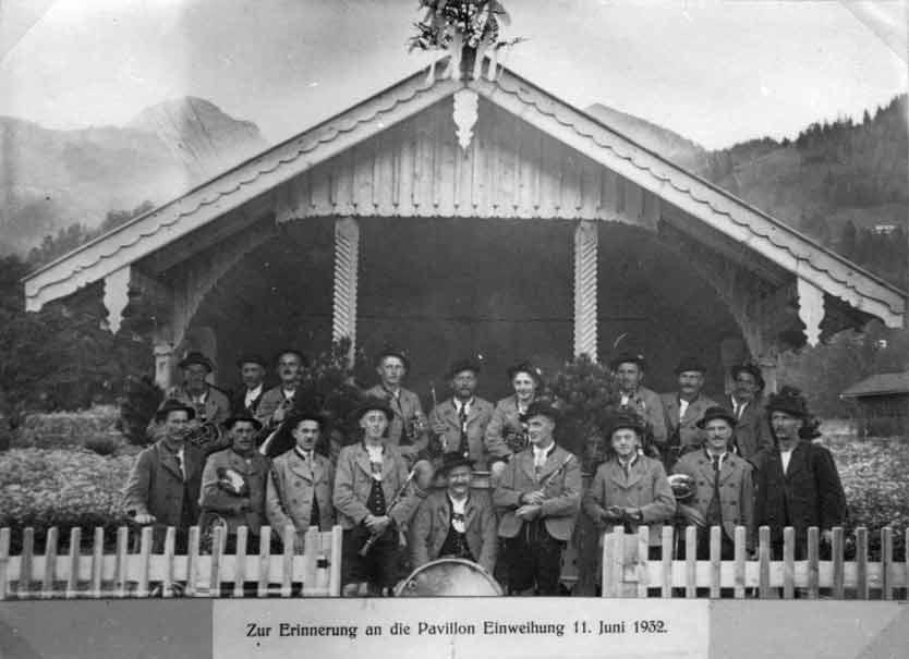 Einweihung des Musikpavillons im Jahre 1932