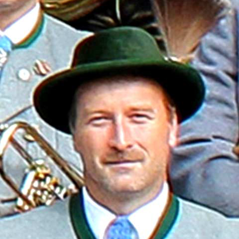 Richard Liebl, spielt Flügelhorn bei der Musikkapelle Bayrischzell